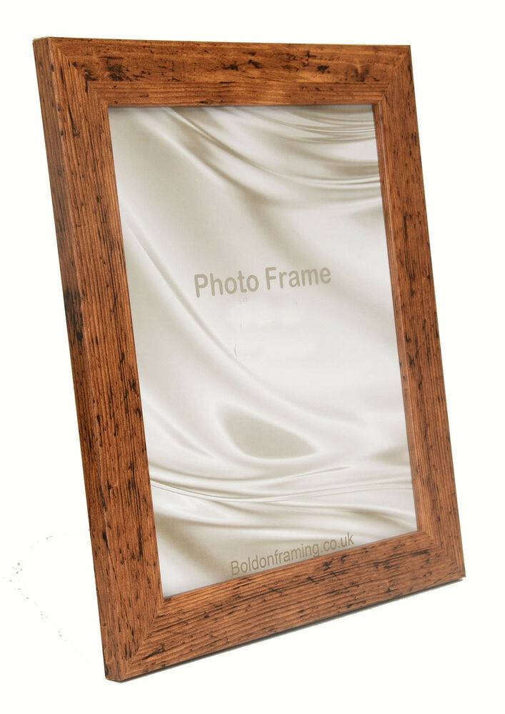 Picture Photo Frame Rustic Oak Wood Effect Look Square and ...