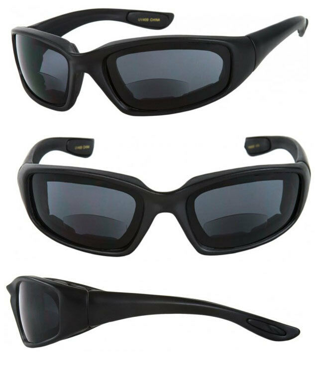 tinted bifocal padded safety goggles sun reader