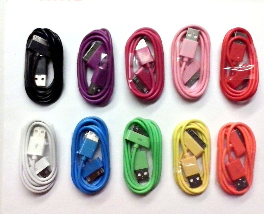 lot 20 color usb data sync charger cable cord for iphone. Black Bedroom Furniture Sets. Home Design Ideas
