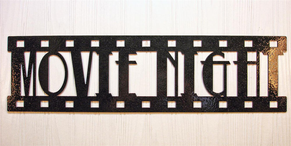 Movie Night New Metal Wall Art Home Theater Decor