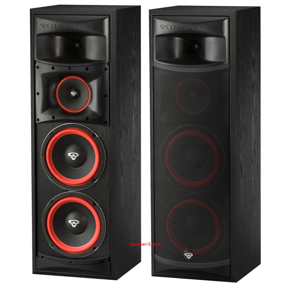 Pair Cerwin Vega Xls 28 Dual 8 Quot 3 Way Subwoofer Floor