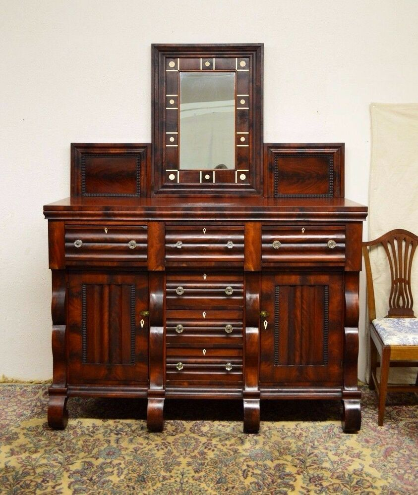 mahogany sideboard server buffet monumental large empire mahogany sideboard server 7326