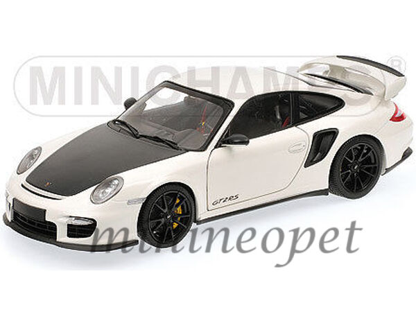 minichamps 100 069405 2011 porsche 911 997 gt2 rs 1 18 white with black wheel. Black Bedroom Furniture Sets. Home Design Ideas