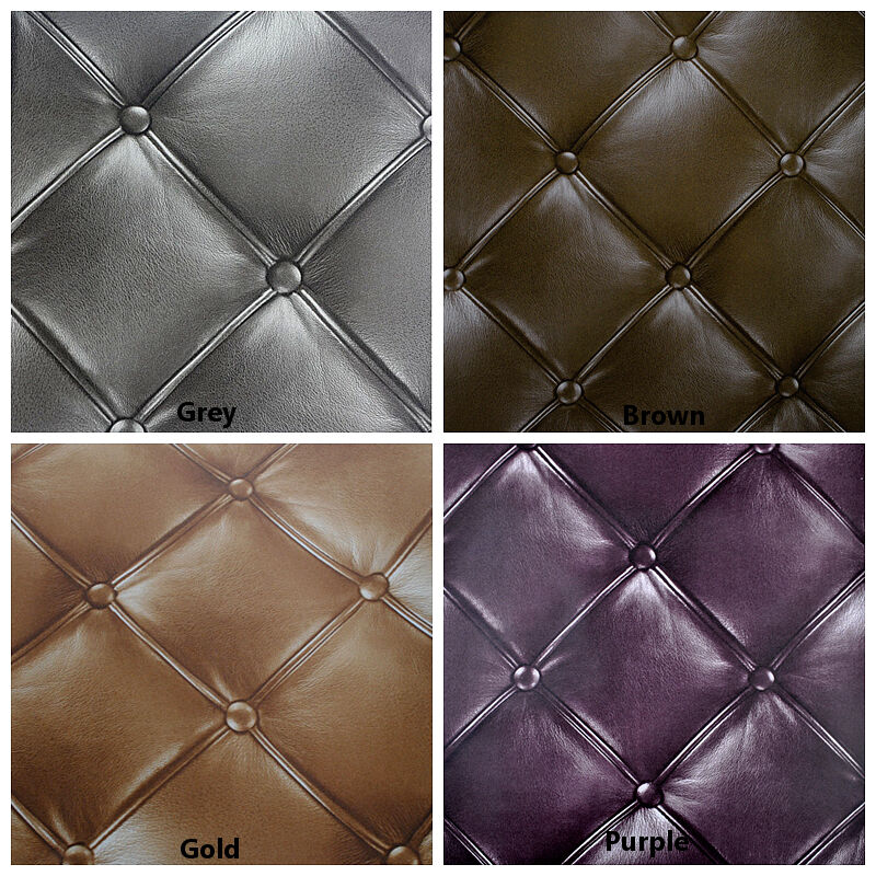 Luxury vintage retro chesterfield faux leather 3d for Ebay 3d wallpaper