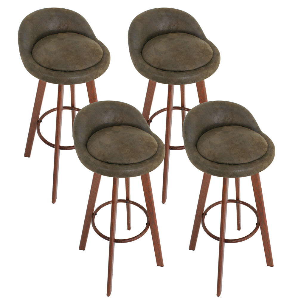 Set Of 4 Vintage Bar Stool Industrial Metal Design 30