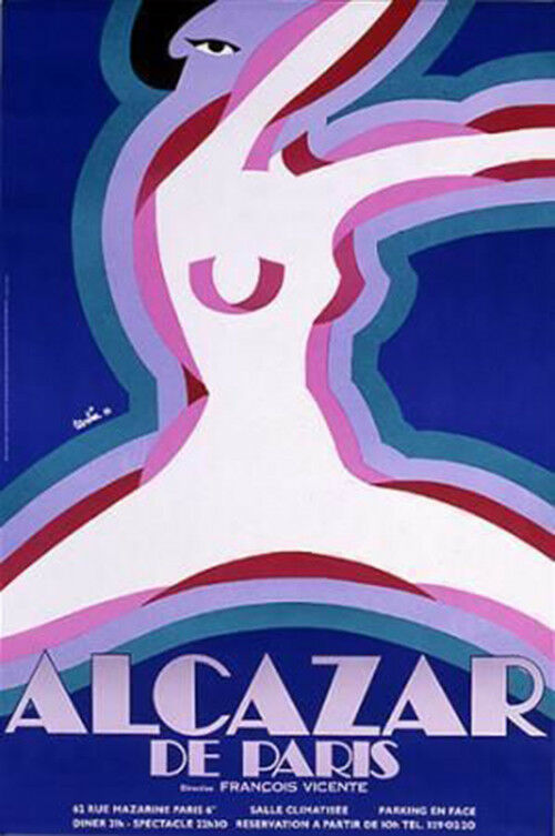 Original Vintage Poster Alcazar De Paris Nude Girls Gogo French Showgirls Dance  Ebay-3098