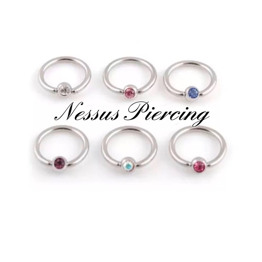 captive bead ring piercing cbr coloured surgical