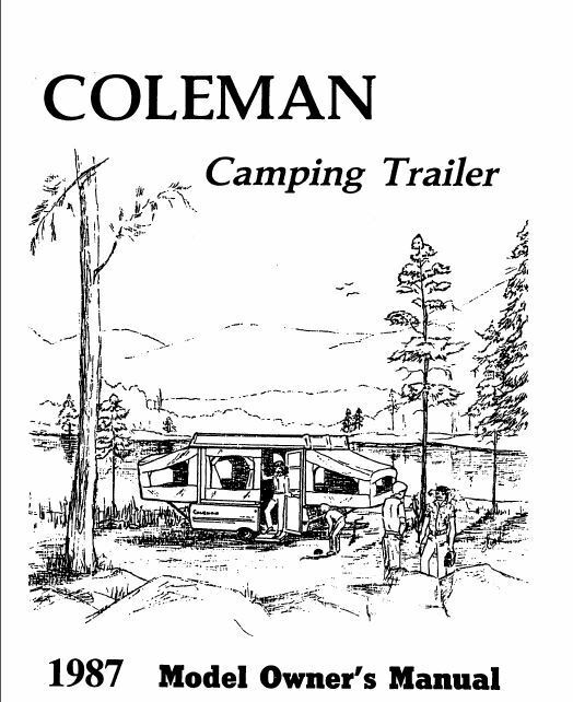 coleman popup trailer owners manual