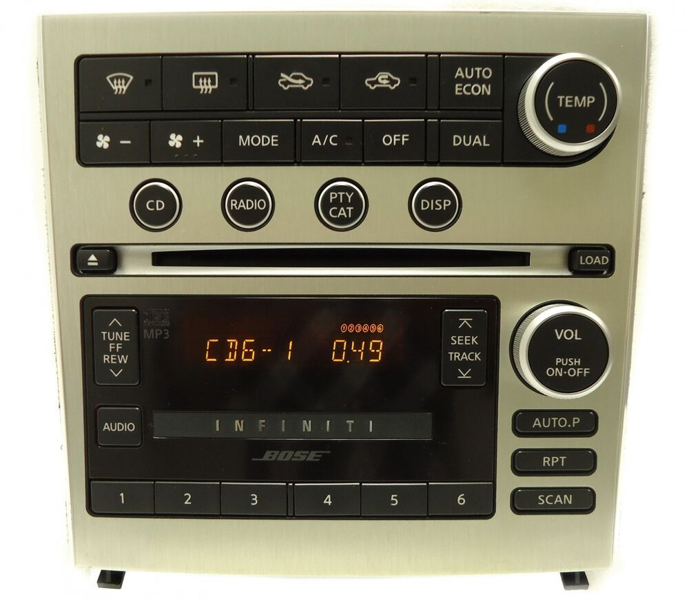 05 06 07 infiniti g 35 g35 bose radio 6 disc changer mp3 cd player navigation ebay. Black Bedroom Furniture Sets. Home Design Ideas