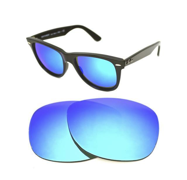 new polarized custom ice blue lens for ray ban wayfarer