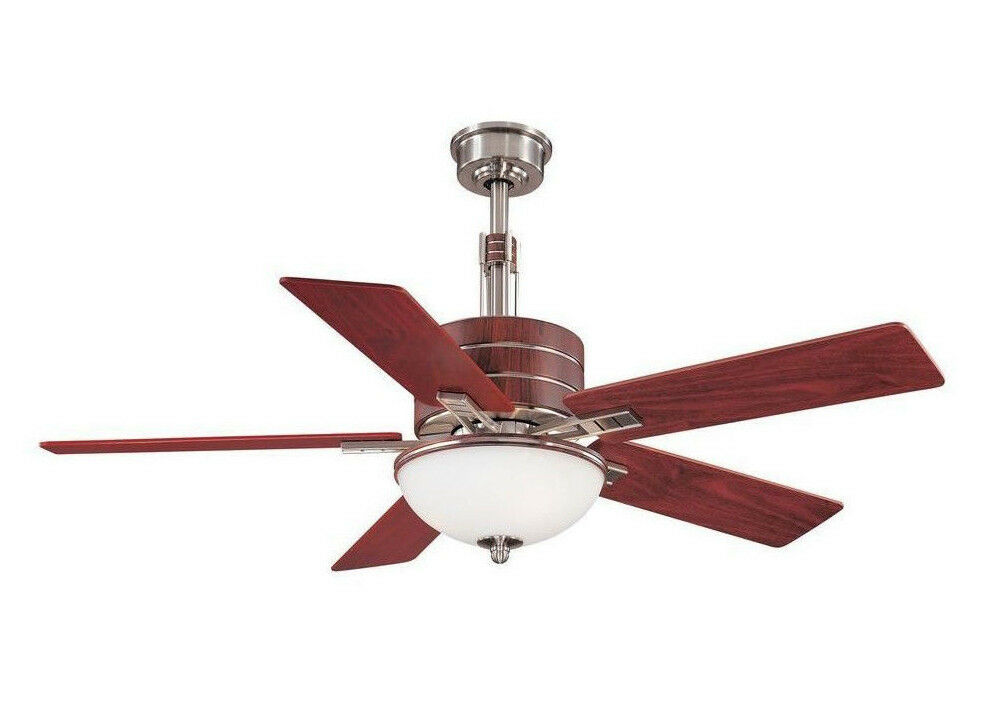 Hampton Bay Carlsbad 52 In. Brushed Nickel Ceiling Fan