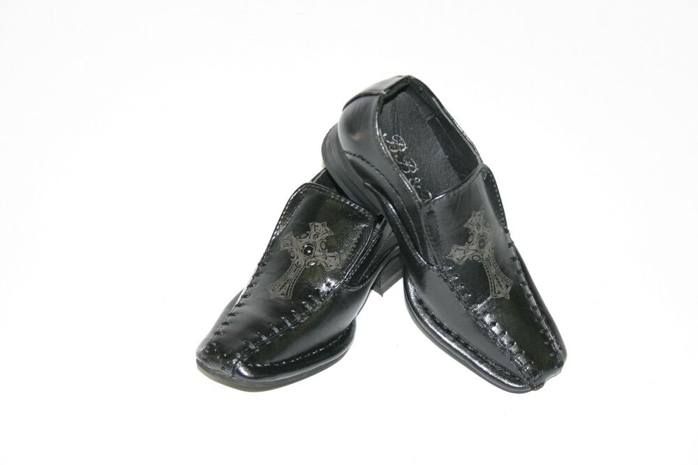 new black white toddler baby boy dress shoes slip on