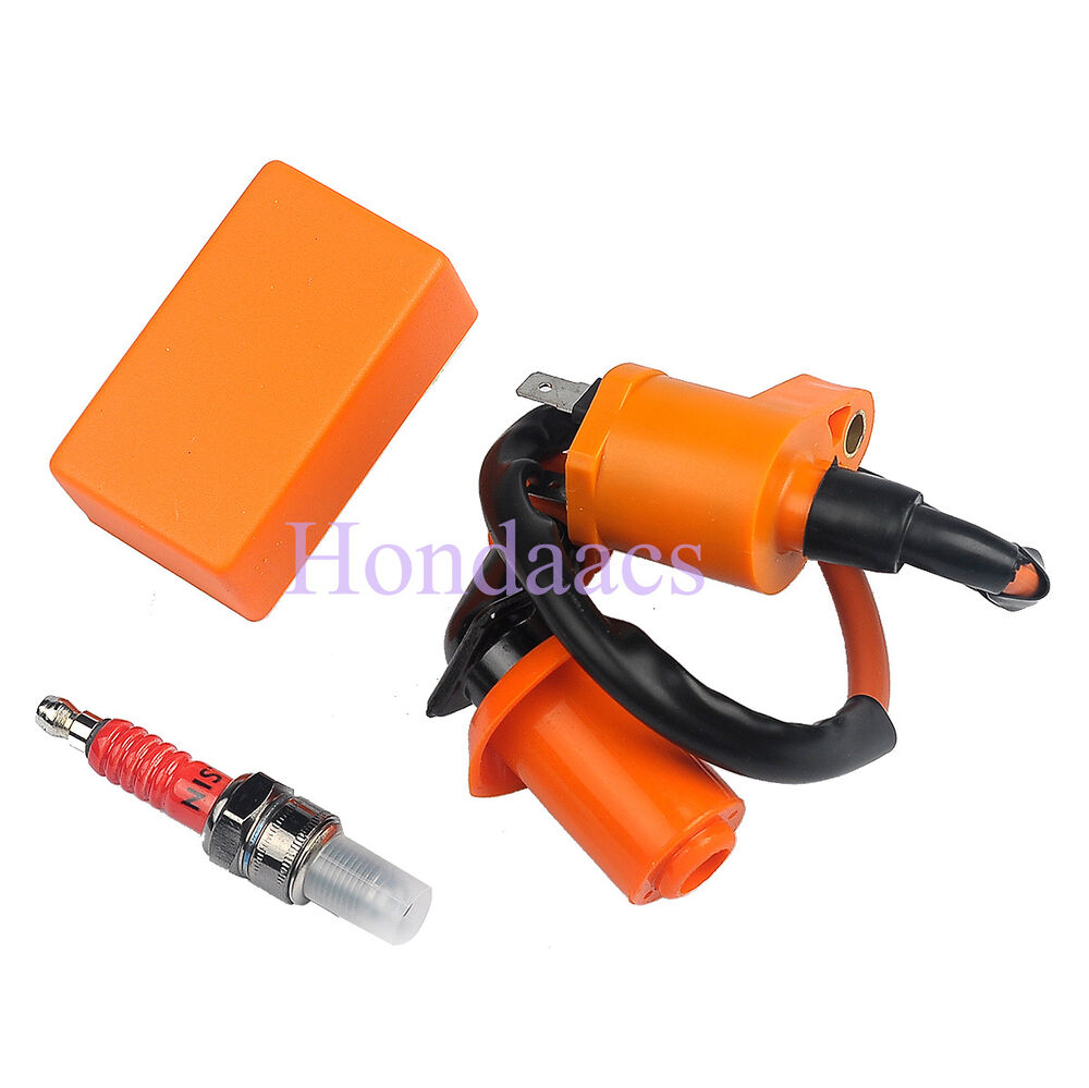 Ignition Coil Usa: Racing Ignition Coil + CDI + Spark Plug A7TC FITS GY6 50cc