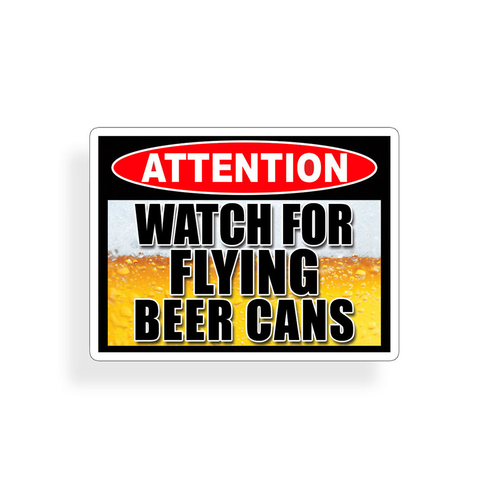 Watch Flying Beer Can Sticker Drink Drinking Cooler Frig