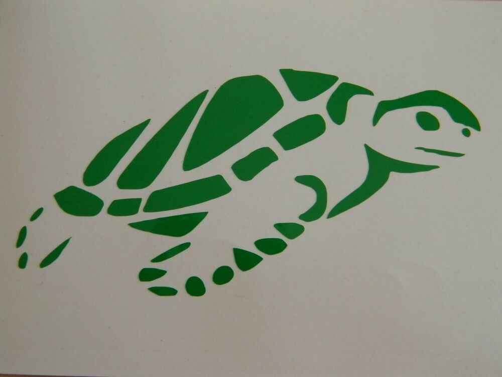 Sea Tortoise Turtle Swimming Vinyl Decal Sticker Choose