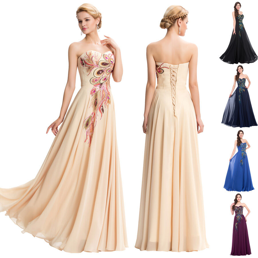 New chiffon long bridesmaids evening prom party dress for Wedding cocktail party dresses