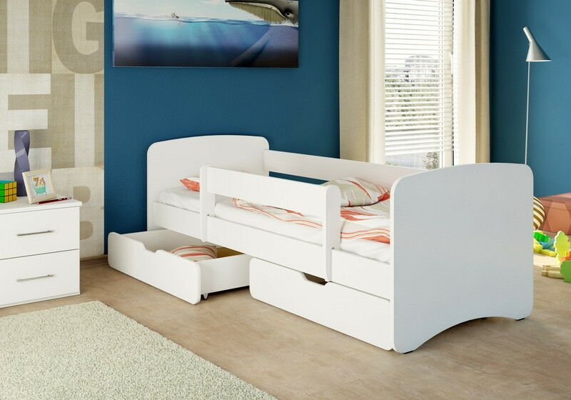 nicenico kinderbett jugendbett 2 bettk sten matratze 180 90 wei ebay. Black Bedroom Furniture Sets. Home Design Ideas