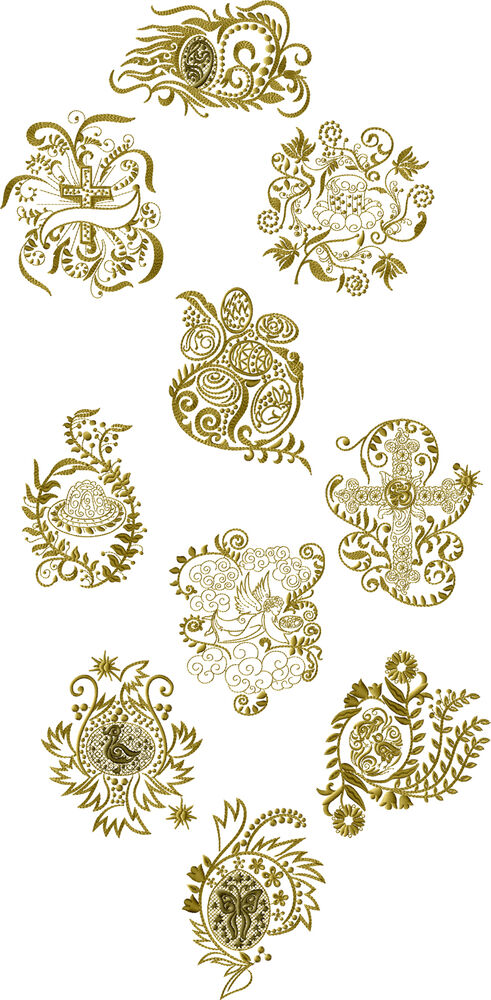 Abc designs easter motifs machine embroidery designs set 5 for Embroidery office design version 7 5