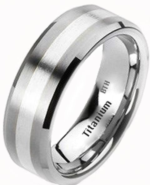 New Mens 925 Sterling Silver And Titanium Wedding Engagement Band Ring | EBay