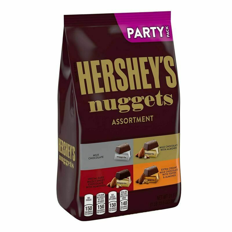 Hersheys Nuggets Chocolate Assortment 38.5 Oz Party Size