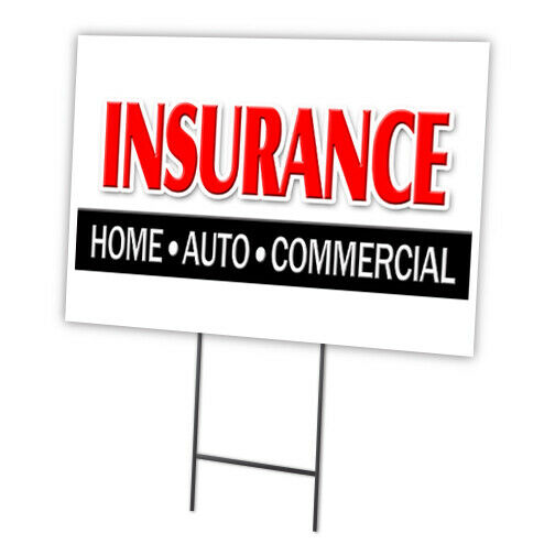 """INSURANCE HOME AUTO COMMERCIAL 18""""x24"""" Yard Sign & Stake ..."""