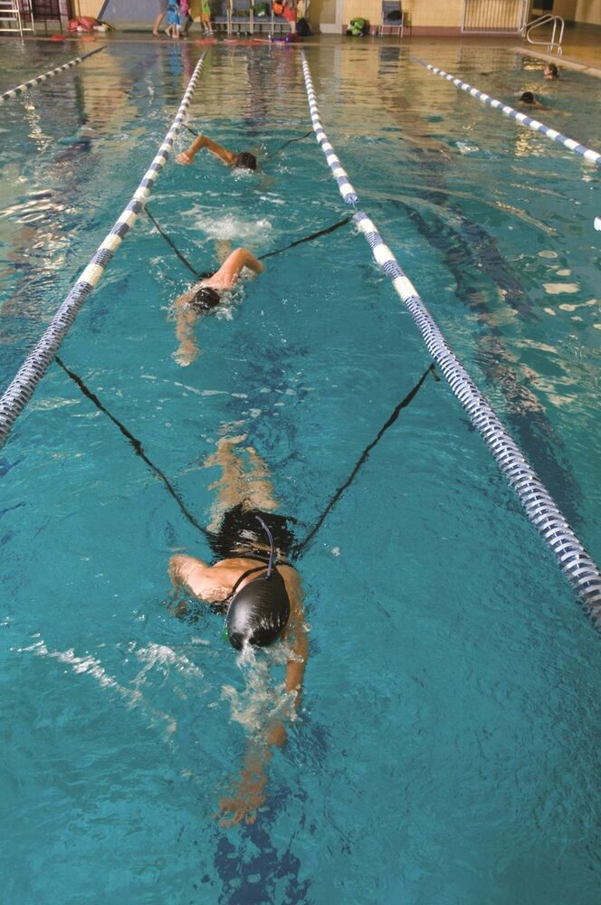 Double sprint leash water therapy lane training stroke for Hagebaumarkt swimmingpool