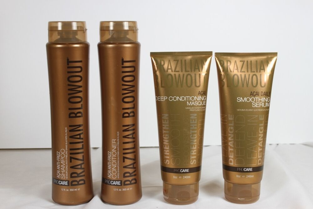 Brazilian Blowout 4 Pack Shampoo, Conditioner, Masque and ...