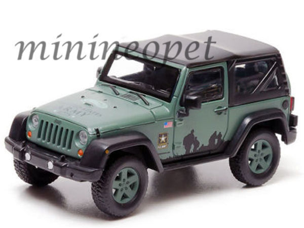Greenlight 86043 2012 12 Jeep Wrangler U S Army 1 43 W Display Case