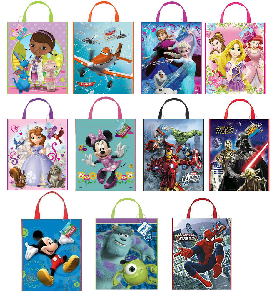 Disney Party Tote Bags Character Party Supplies Gift Loot