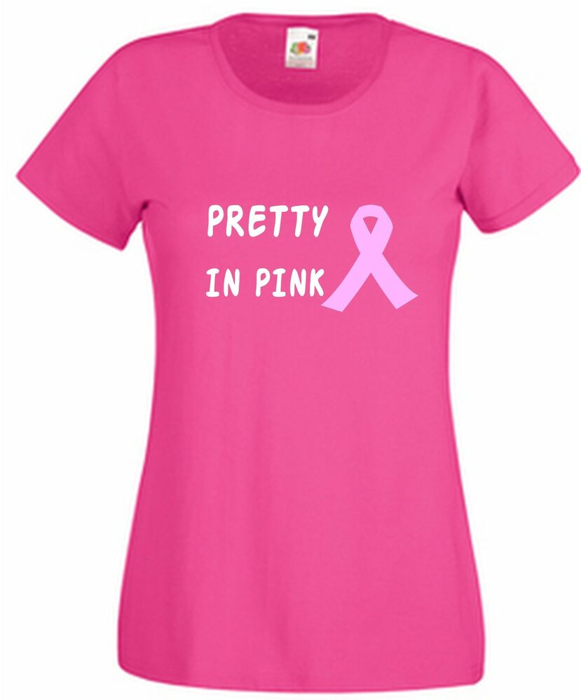 Pretty In Pink T Shirt with Breast Cancer Ribbon Wear It ...