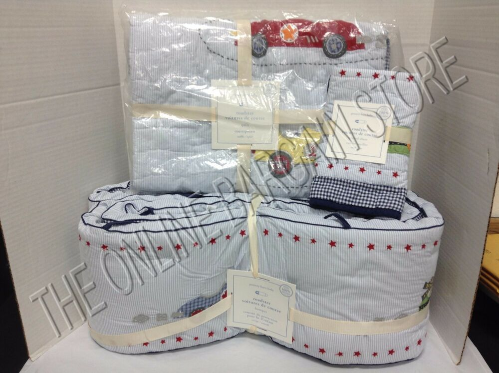 Pottery Barn Kids Vintage Roadster Cars Baby Crib Nursery