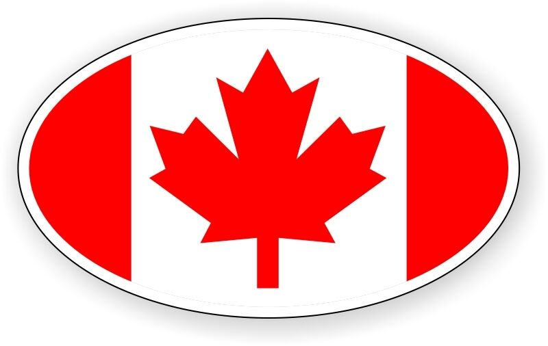 Flag Of Canada Vinyl Decal Bumper Sticker Label Maple