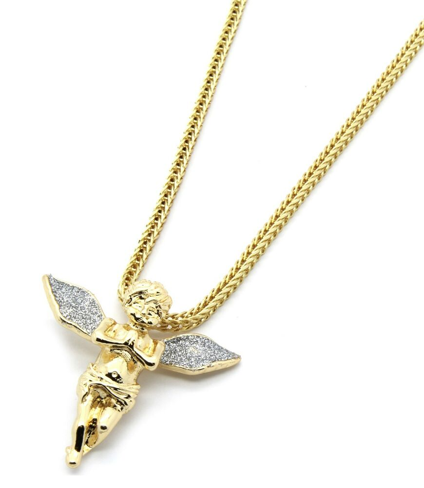 14k gold plated si stardust wing pendant