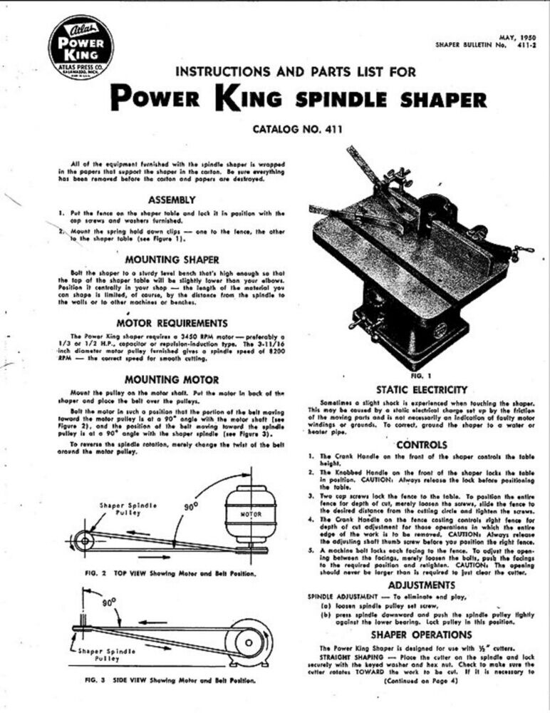 Power King Tractor Spindles : Atlas power king spindle shaper instructions