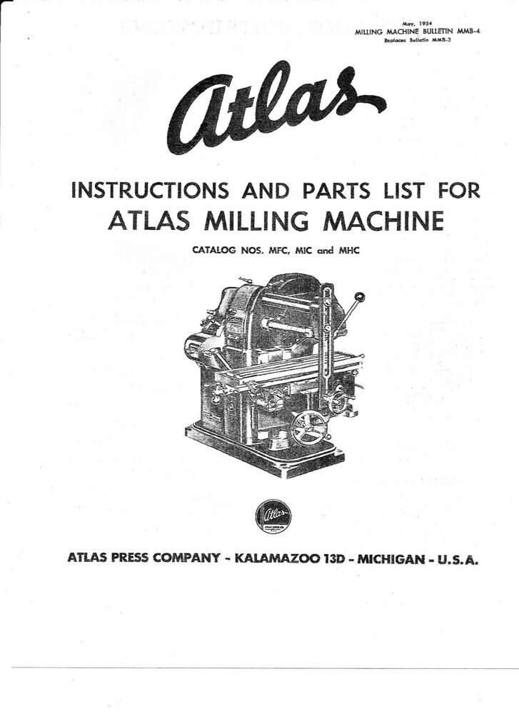 atlas mfc milling machine