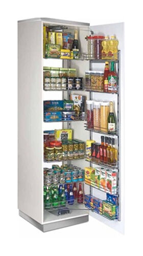 Swing out pantry kitchen larder unit 450 500 600mm for Kitchen cupboard carcasses 600mm
