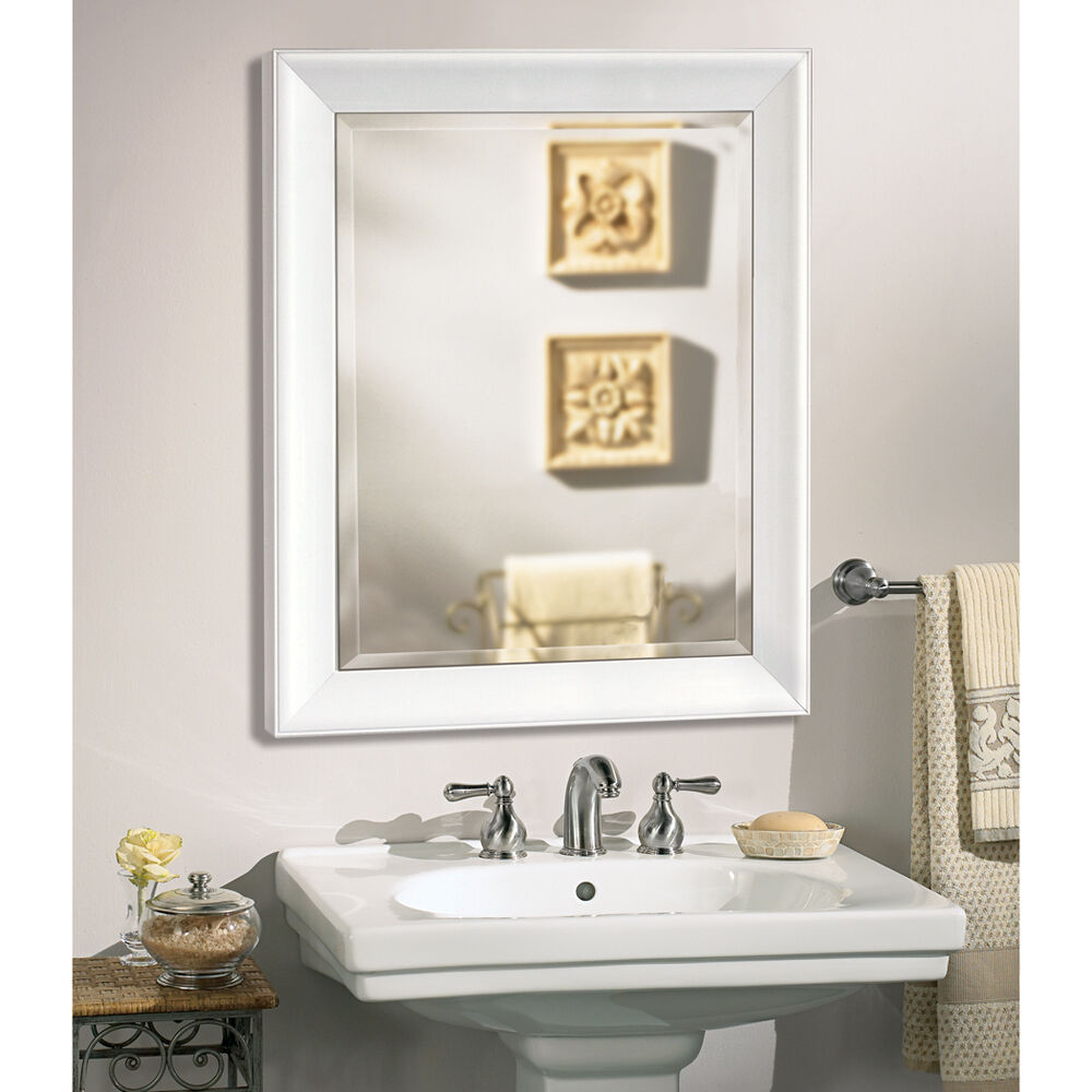 Contemporary white frame wall mirror 2077 ebay for Contemporary wall mirrors