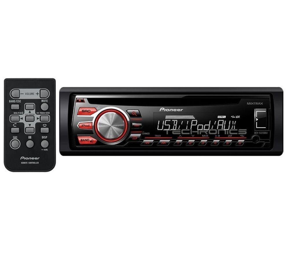 iphone car radio pioneer deh x2700ui 2yr wrnty cd mp3 ipod iphone android 11701