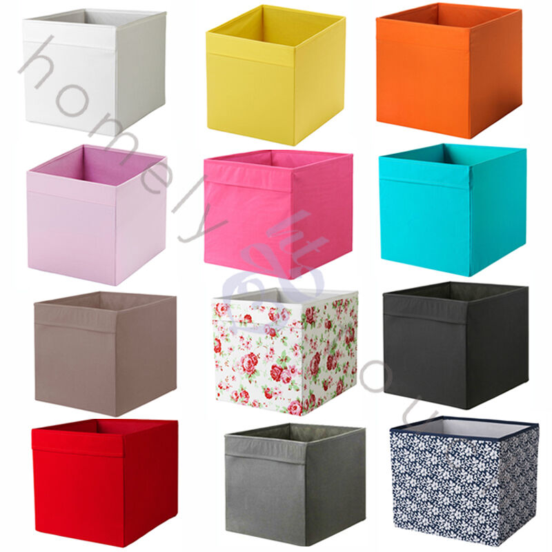 choice of ikea storage boxes drona expedit kallax shelving clothes toys books ebay. Black Bedroom Furniture Sets. Home Design Ideas