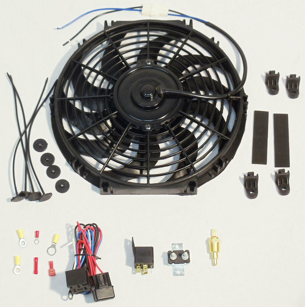 Wiring Diagram Radiator Electric Fan : Electric cooling fan wiring kit ebay radiator