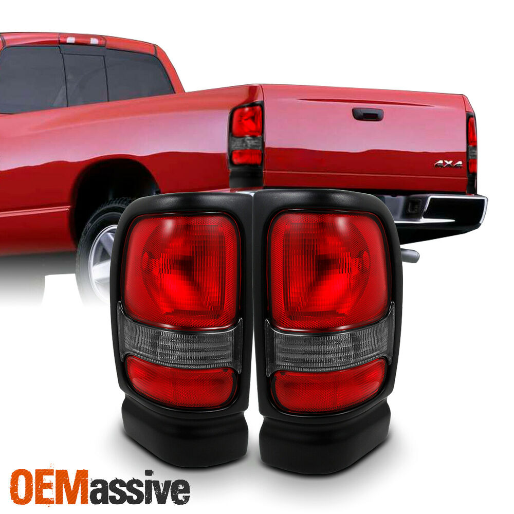 1994 2002 Dodge Ram 1500 2500 3500 Truck Red Clear Tail