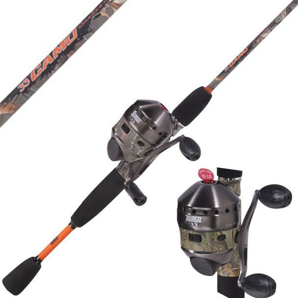 Zebco 33 camo spincast combo rod reel package 6 39 2 piece for Camo fishing pole