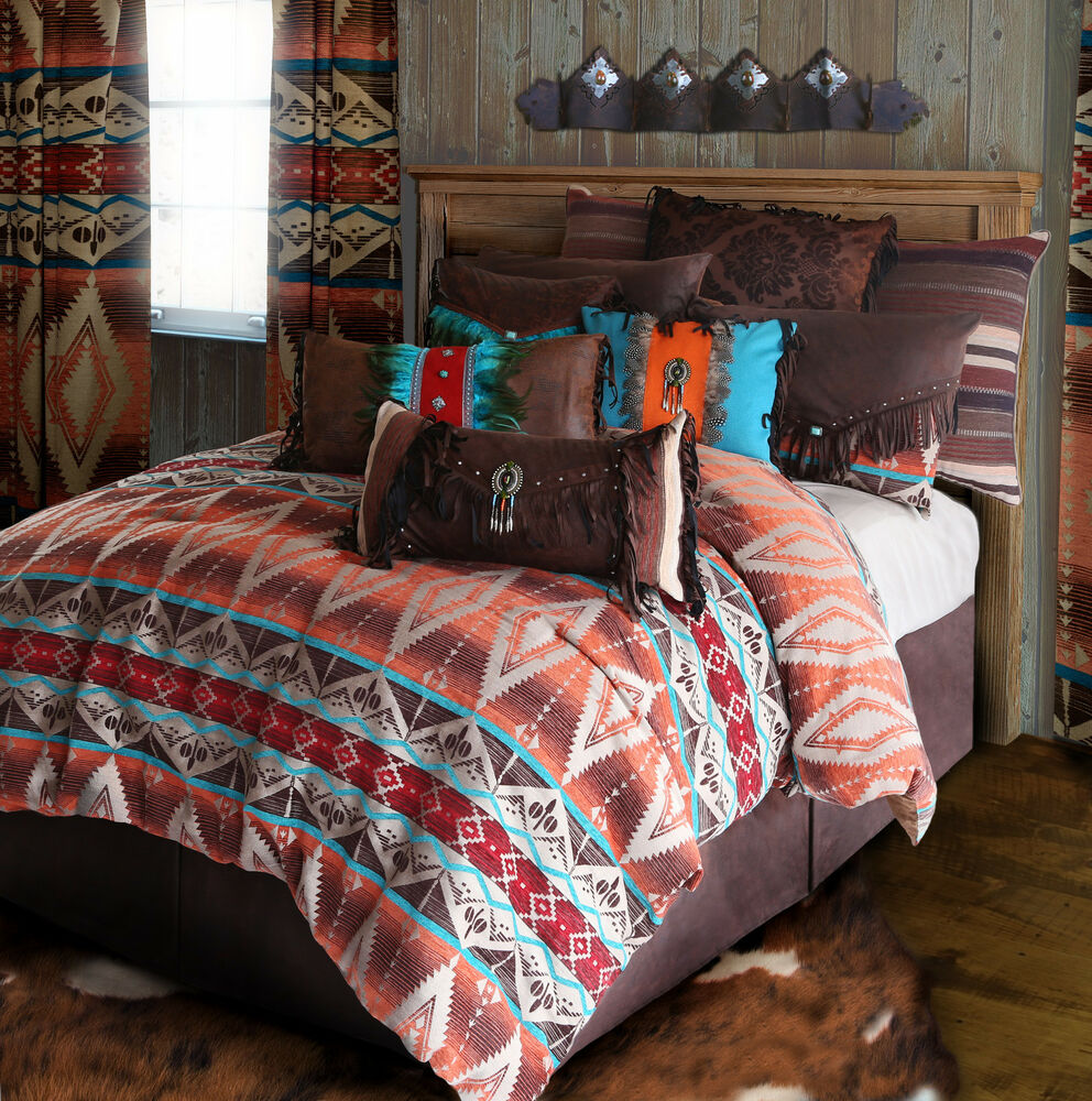 Mojave sunset tuscan rustic western comforter bedding set for Bed sets with mattress included