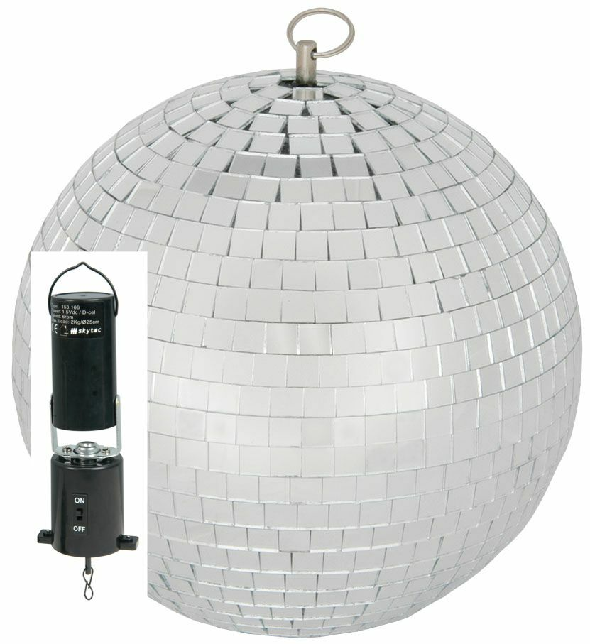 200mm 8 Silver Mirrorball Disco Dj Party Mirror Ball