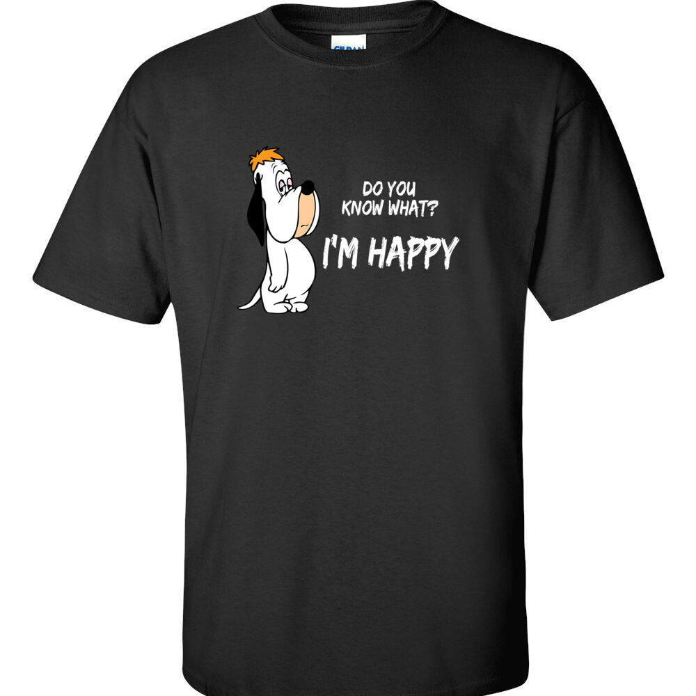 happy t shirt droopy t shirt im happy shirt 80 39 s retro. Black Bedroom Furniture Sets. Home Design Ideas