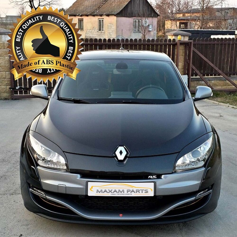 renault megane iii 3 mk3 2008 2014 headlights eyebrows eyelids abs plastic ebay. Black Bedroom Furniture Sets. Home Design Ideas