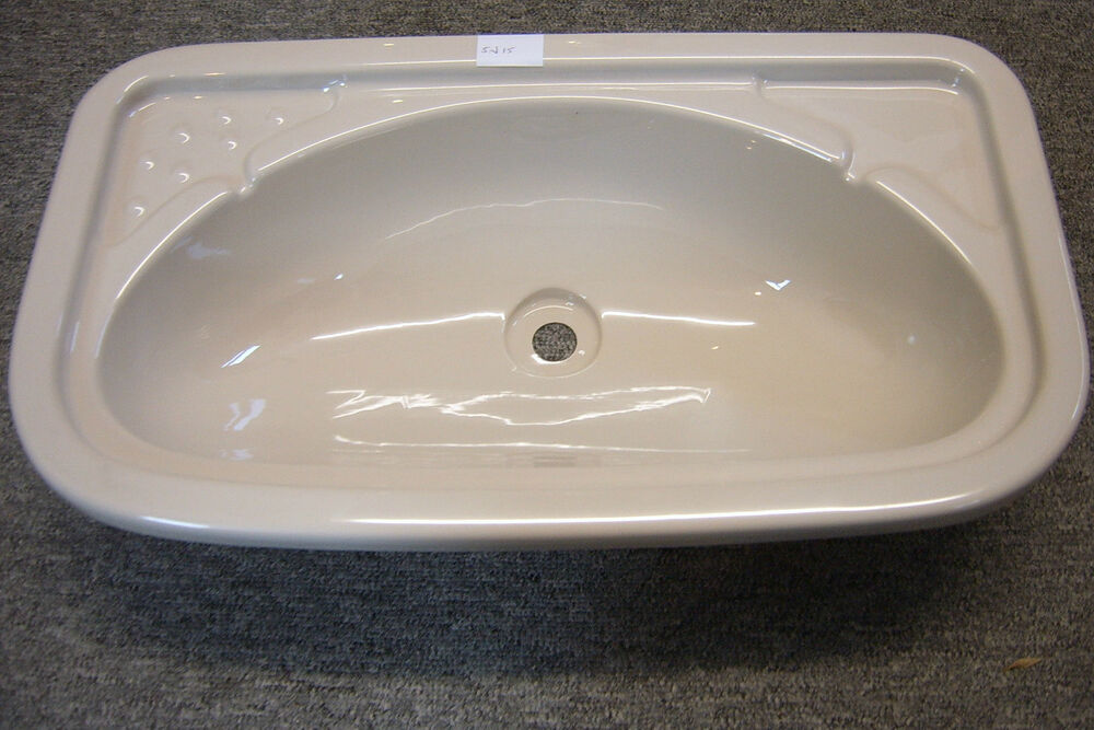 plastic bathroom sink caravan bathroom ivory plastic vanity sink sn15 ebay 13999