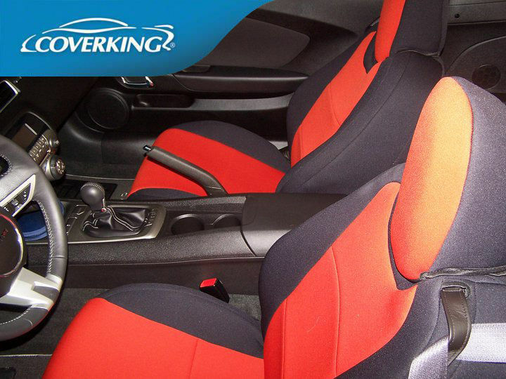 chevy camaro 5 genuine neoprene front rear coverking custom fit seat covers ebay. Black Bedroom Furniture Sets. Home Design Ideas