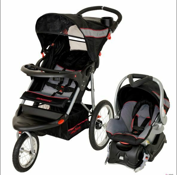 Lightweight Baby Stroller Jogging Travel System Car Seat