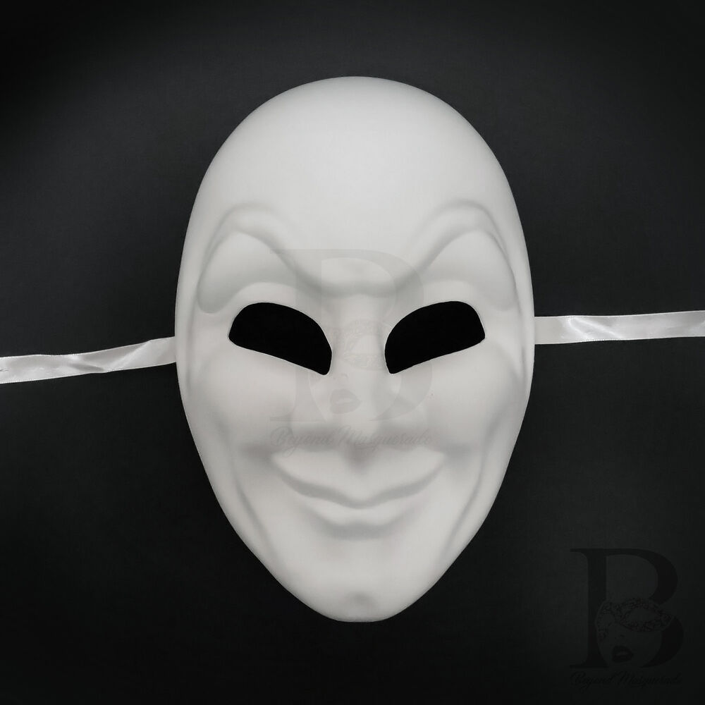 Unpainted Blank Full Face Masquerade Mask